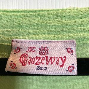 Lime green Gauzy top